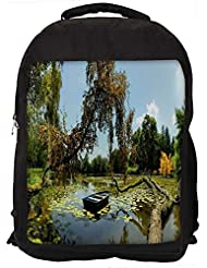 """Snoogg Broked Tree On The River Casual Laptop Backpak Fits All 15 - 15.6"""" Inch Laptops"""