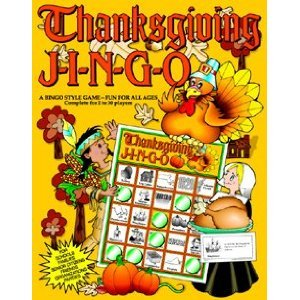 Click to buy Thanksgiving games: Jingo Thanksgiving Bingo from Amazon!