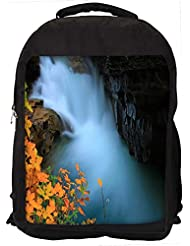 """Snoogg Water Flowning In Great Force Casual Laptop Backpak Fits All 15 - 15.6"""" Inch Laptops"""