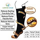 Lumino Cielo All-Day Compression Socks With Copper Infused Fibers Offer Pain Relief From Plantar Fasciitis, Compression...
