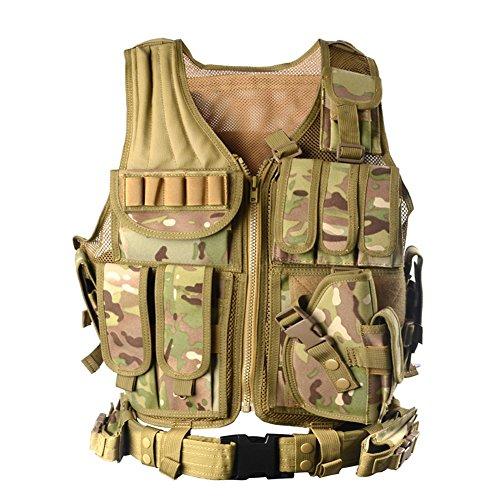 YAKEDA®les fans de l'armée veste tactique CS terrain de plein air fournitures respirant veste tactique léger entraînement au combat des forces spécial...