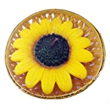 ATORAKUSHON SMOKELESS SCENTED BIG SUNFLOWER FLOATING CANDLE- PACK OF 4 FOR DIWALI X-MAS PARTY CORPORATE GIFT