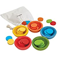 PlanToys 5360 Sort Count Cups Baby Toy
