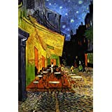 Posterhouzz Poster Vincent Van Gogh - The Cafe Terrace On The Place Du Forum, Arles, At Night, C.1888 Fine Art Print Poster