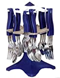 Ganesh Swastic Cutlery Set, 25-Pieces (Color May Vary)