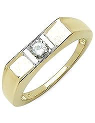 0.50CTW Genuine White Cubic Zircon .925 Sterling Silver Gold Plating Ring - B00XPLISLO