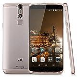 "ZTE Axon Mini Premium Lte 4G - 5.2"" Smartphone Libre Android 32G (Fhd, octa Core, 3G Ram, Dual Sim, 13Mp, Force Touch, Lector de Huellas Dactilares, Multi-Idioma), Dorado"
