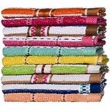 Casa Copenhagen-Basics Set Of 10 Pcs Terry Table Napkins -(Assorted Any 10 Pcs Wash Towels)