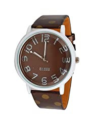 Super Drool Brown And Gold Polka Dots Wrist Watch