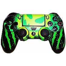 Elton PS4 Controller Designer 3M Skin For Sony PlayStation 4 , PS4 Slim , PS4 Pro DualShock Remote Wireless Controller (Set Of Two Controllers Skin) - MONSTER ( Green , Yellow , Black , Standard )