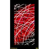 "PixTopper Linature Red Canvas Poster(Small 20""x20"")"