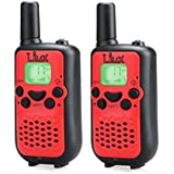 Walkie Talkies,Durable And Easy To Use 22 Channel FRS/GMRS 2 Way Radio 2 Mile Rang, 2 Pack(Red) 100%!