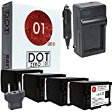 4x DOT-01 Brand 2200 MAh Replacement Canon BP-819 Batteries And Charger For Canon M300 Camcorder And Canon BP819