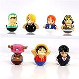 One Piece Kororin Wobbler Trading Figures (Set of 7 + 1 Extra Random Figure - 8 Figures To...