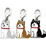 Alcoa Prime 3 Colors Mini Cute Husky Pet Dog Tag Disc Disk Pet ID Enamel Accessories Collar Necklace Pendant Small Doggy Supply On Sale
