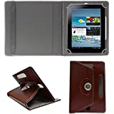 ECellStreet TM 7 Inch PU Leather Rotating 360° Flip Case Cover With Tablet Stand For Datawind UbiSlate 7C+Tablet...