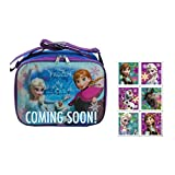 Disney Frozen Lunch Bag With Strap And Microsilk Printing With Elsa, Anna & Olaf