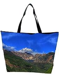 Snoogg Abstract Dark Blue Sky Designer Waterproof Bag Made Of High Strength Nylon