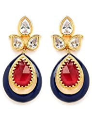 Akshim Multicolour Alloy Earrings For Women - B00NPYAWOM