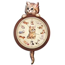 Purr-Fect Times Cat Art Decorative Wall Clock by The Bradford Exchange