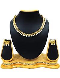 SatyamJewelleryNx Antique Pearl Necklace Set For Women Fancy Jewellery
