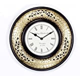 """Home And Bazaar Traditional Rajasthani Wall Clock With Brass Finish 12"""" - B015VB37V6"""