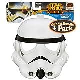 Star Wars Rebels Darth Vader, Stormtrooper, Ezra Bridger & The Inquisitor Masks Gift Set Bundle - 4 Pack