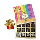 Chocholik Belgium Chocolates - Dark Flavour Truffle Collection Gift Box With Small Ganesha Idol - Gifts For Diwali