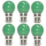 Osram 0.5 Watt LED Bulb B22d Green (Pack Of 6)