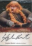 The Hobbit Desolation Of Smaug Autograph Card Stephen Hunter as Bombur the Dwarf