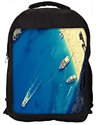 """Snoogg Small Beach Side Casual Laptop Backpak Fits All 15 - 15.6"""" Inch Laptops"""