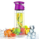 Infuser Water Bottle - 27 Ounce - Leak Proof And High Quality- Made With Commercial Grade Tritan (Purple)