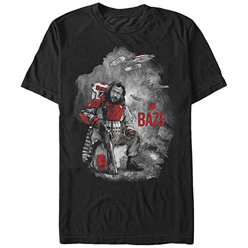 Star Wars Rogue One Baze Repeater Cannon Mens Graphic T-Shirt