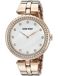 Nine West Women's NW/1740WMRG Swarovski Crystal Accented Rose Gold-Tone Bracelet Watch