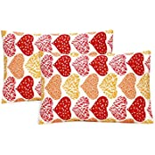 Ctm Textile Mills 100 % COTTON SET OF 2 PILLOW COVER HIGH WASH FASTNESS AND SOFT FINISH - B01HD70PW0