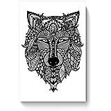 PosterGuy Poster - Zen Wolf Zentangle Art, Wolf, Zen, Line Art, Wall Art, Wall Decor, Black, Zen Art, Doodle,...
