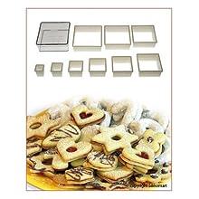 Silikomart Nylon Cutter 04 Regular Square For Cookie Pastry Cutter 9 Pcs Set