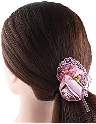 Anuradha Art Stylish Pink Colour Designer Hair Accessories Hair Band Stylish Rubber Band For Women/Girls