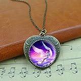 Angel Heart Blue Necklace Angel Heart Pendant , JewlN:2