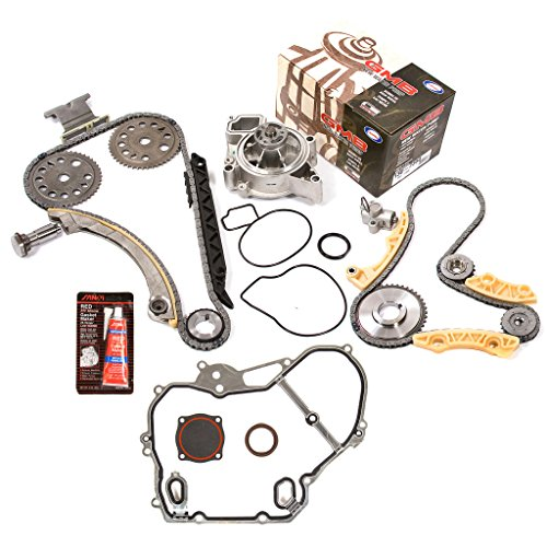 Evergreen TKTCS10422CWP 01-10 Chevrolet Oldsmobile Pontiac Saturn GM 2.0 2.2 2.4 DOHC Ecotec Engine Timing Chain Kit Balance Shaft Water Pump Timing Cover Gasket