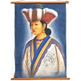 """Dolls Of India """"Nepali Lady"""" Painting On Cotton - Unframed (43.18 X 66.04 Centimeters)"""