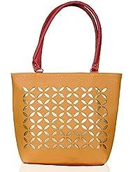 Katvon Women's Handbag Beige And Red And Purple YRS 0103A3