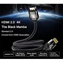 Vention HDMI Cable 1 Meter - HDMI Male To HDMI Male Connector Adapter Cable 2.0V 4K 18Gbps Ultra High Speed 1080p...