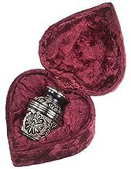 Elegante Beautifully Crafted Eternal Ring Black Gold Keepsake With Elegant Heart-Shape Velvet Case