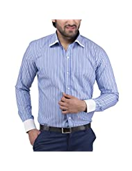 Tag & Trend Cotton Formal Shirt Slim Fit Yale Blue Color For Men