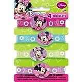 Minnie Mouse Rubber Bracelets, 4ct