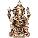 Swethamber Arts Brass Ganesh Statue Showpiece::Antique Finish