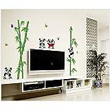 Panda And Bamboo Home Decorative Wall Sticker
