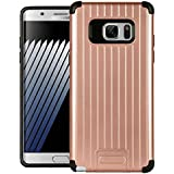 Dr Chen Samsung Galaxy Note 7 Case Metal Armor Cover Hybrid Tpu + PC Dual Layer Back Cover For Samsung Galaxy Note 7 (Rose Gold)