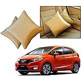 Car Vastra Cushion Pillow Set Beige Color For Car & Home For - Honda Jazz 2015